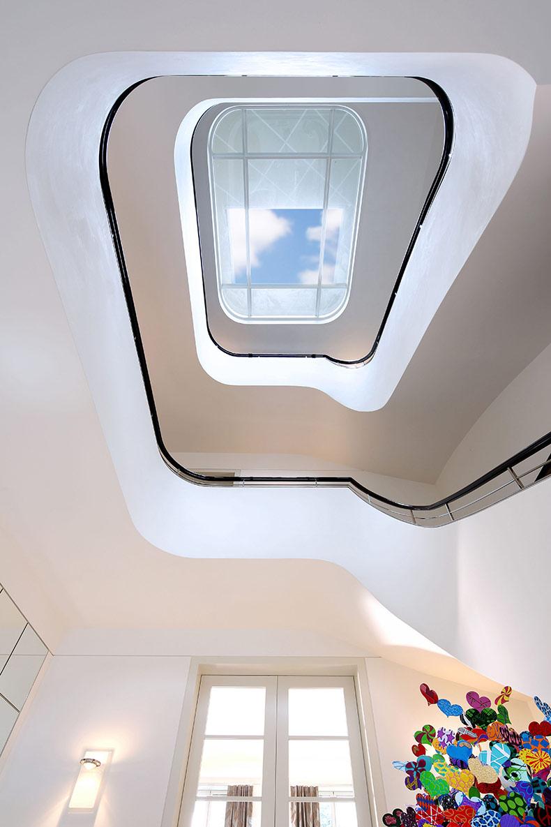 Architekturfotografie treppenaufgang altenberge