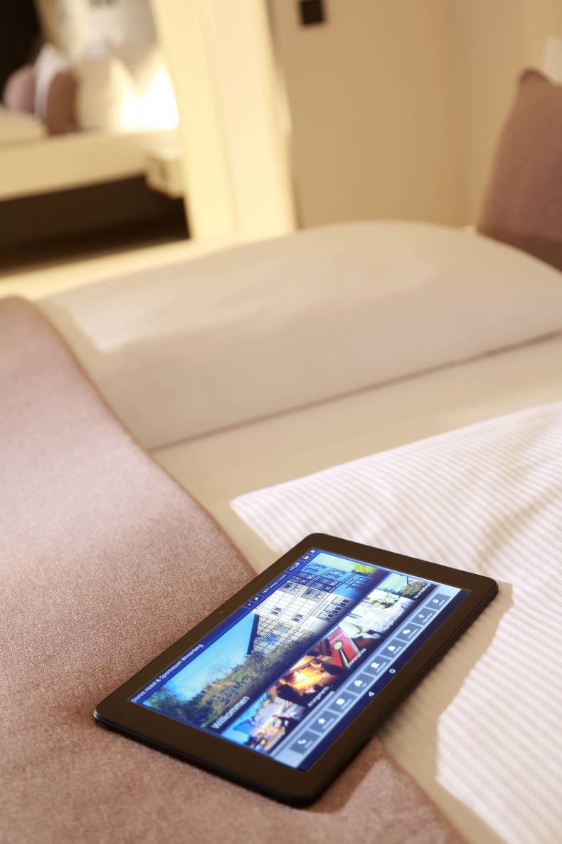 Hotelfotografie tablet altenberge