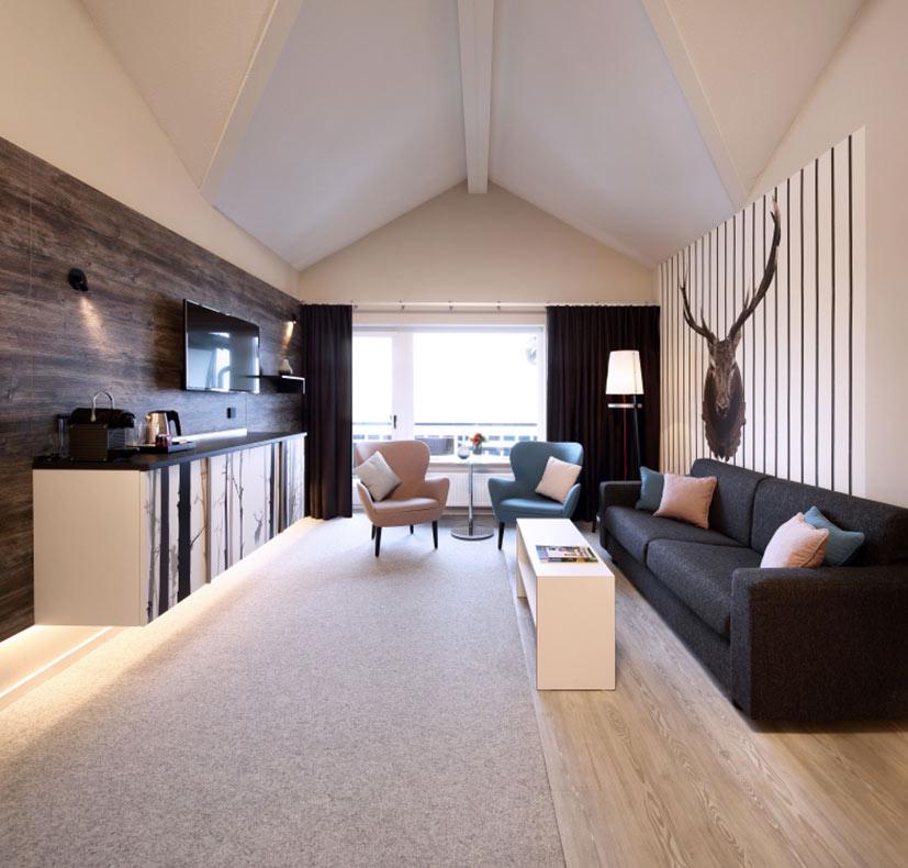 Hotelfotografie wohnzimmer teppich altenberge